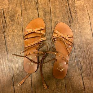 J crew Cross-strap flat sandals